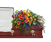 Treasured Celebration Casket Spray in Methuen MA, Martins Flowers & Gifts