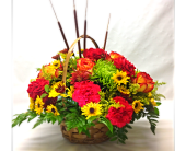 Filer's Fall Mixed Basket Bouquet in Cleveland OH, Filer's Florist Greater Cleveland Flower Co.