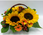 Sunflower Basket in Belleville ON, Live, Love and Laugh Flowers, Antiques and Gifts