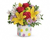 Teleflora's Delightful Dots Bouquet in Oakley CA, Good Scents