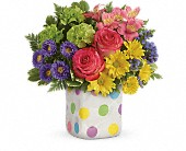 Teleflora's Happy Dots Bouquet in San Jose CA, Rosies & Posies Downtown