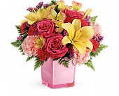 Teleflora's Pop Of Fun Bouquet in Ammon ID, Petal Passion