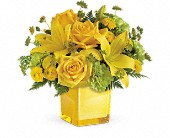 Teleflora's Sunny Mood Bouquet in San Jose CA, Rosies & Posies Downtown