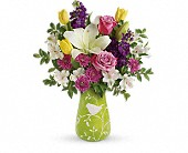 Teleflora's Veranda Blooms Bouquet in Ammon ID, Petal Passion