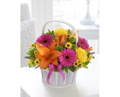 Bright and Cheery Flower Basket            in Mississauga ON, Flowers By Uniquely Yours