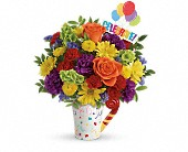 Teleflora's Celebrate You Bouquet in Edmonton AB, Petals For Less Ltd.