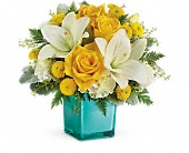 Teleflora's Golden Laughter Bouquet in Ste-Foy QC, Fleuriste La Pousse Verte