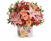 Teleflora's Brushed With Blossoms Bouquet in Burlington WI, gia bella Flowers and Gifts