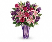Teleflora's Luxurious Lavender Bouquet in Edmonton AB, Petals For Less Ltd.