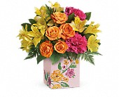 Teleflora's Painted Blossoms Bouquet in Waldron AR, Ebie's Giftbox & Flowers