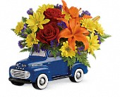 Vintage Ford Pickup Bouquet by Teleflora in San Jose CA, Rosies & Posies Downtown