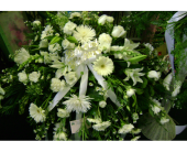 Pure White Casket Cover in Marlboro NJ, Little Shop of Flowers