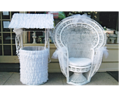 Rental Chair & Wishing Well in Huntington, New York, Queen Anne Flowers, Inc