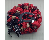 Georgia Bulldawgs Door Wreath For Home in Smyrna GA, Floral Creations Florist