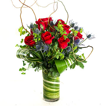 Tall Thistle & Rose Bouquet in Nashville TN, Emma's Flowers & Gifts, Inc.