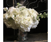 Silver & White Centerpiece in Staten Island, New York, Kitty's and Family Florist Inc.