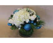 Sapphires and Snow in Birmingham MI, Tiffany Florist