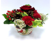 Christmas Poinsettia Bowl in Belleville ON, Live, Love and Laugh Flowers, Antiques and Gifts