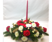 1 Candle Centerpiece in Cleveland OH, Filer's Florist Greater Cleveland Flower Co.