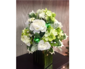 Emerald and Silver Noel Bouquet in Xenia OH, The Flower Stop