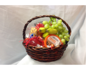 Fruit and Cheese Basket in Fairfield OH, Novack Schafer Florist
