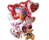 I Love You Bouquet with Bear in Needham MA, Needham Florist