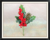 Christmas Greens Boutonniere in Tyler, Texas, The Flower Box