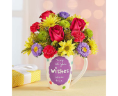 Best Wishes Mug in Aston PA, Wise Originals Florists & Gifts