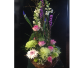 PURPLE GARDEN BASKET in Missouri City, Texas, Flowers By Adela