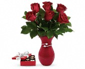 Gift From The Heart Bouquet with chocolates in North Las Vegas NV, Betty's Flower Shop, LLC