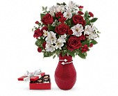 Pair Of Hearts Bouquet with chocolates in Paris ON, McCormick Florist & Gift Shoppe