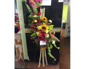BAMBOO CROSS EASEL  in Missouri City, Texas, Flowers By Adela