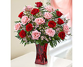 Shades of Pink and Red� Premium Long Stem Roses in Hillsboro OR, Marilyn's Flowers