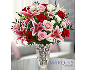 Marquis by Waterford� Red Rose and Lily Bouquet in Hillsboro OR, Marilyn's Flowers