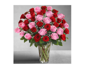 Ultimate Elegance� Long Stem Pink & Red Roses in Hillsboro OR, Marilyn's Flowers