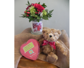 Kringle Candle with Chocolate and Bear in Westfield MA, Flowers by Webster