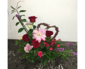 Heart of Love (Lilies) in Mequon, Wisconsin, A Floral Affair, Inc