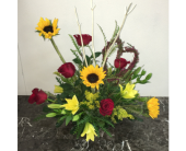 Heart of Love (Sunflowers) in Mequon WI, A Floral Affair, Inc
