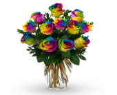 Rainbow Roses in Old Bridge NJ, Flower Cart Florist of Old Bridge
