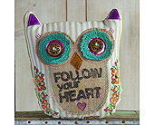 GRAY OWL PILLOW in Muskegon MI, Wasserman's Flower Shop