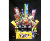Candy & Dr. pepper Basket in New Iberia LA, Breaux's Flowers & Video Productions, Inc.