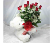 LOVING HUGS  OF RED ROSES by Rubrums in Ossining NY, Rubrums Florist Ltd.