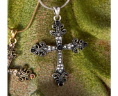 Silver Cross Necklace  in Smyrna GA, Floral Creations Florist