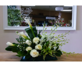 All White Callas Arrangement in Mississauga ON, Flowers By Uniquely Yours