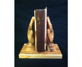 Praying Hand Holder & Bible in New Iberia LA, Breaux's Flowers & Video Productions, Inc.