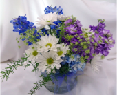 Cool Colors Cylinder Bouquet in Saratoga Springs NY, Dehn's Flowers & Greenhouses, Inc