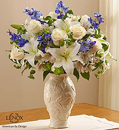 Lenox blue and white in Port Charlotte, Florida, Punta Gorda Florist Inc.