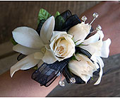 Classy Orchid Corsage in Muskegon MI, Wasserman's Flower Shop