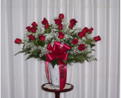 24 Roses Vased in Yonkers, New York, Hollywood Florist Inc
