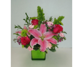 Dazzling Pink Lady in Raleigh NC, Gingerbread House Florist - Raleigh NC